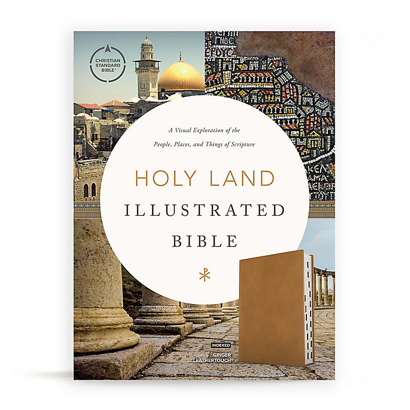 CSB Holy Land Illustrated Bible, Ginger LeatherTouch, Indexed