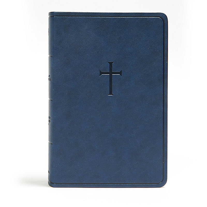 CSB Everyday Study Bible, Navy Cross LeatherTouch