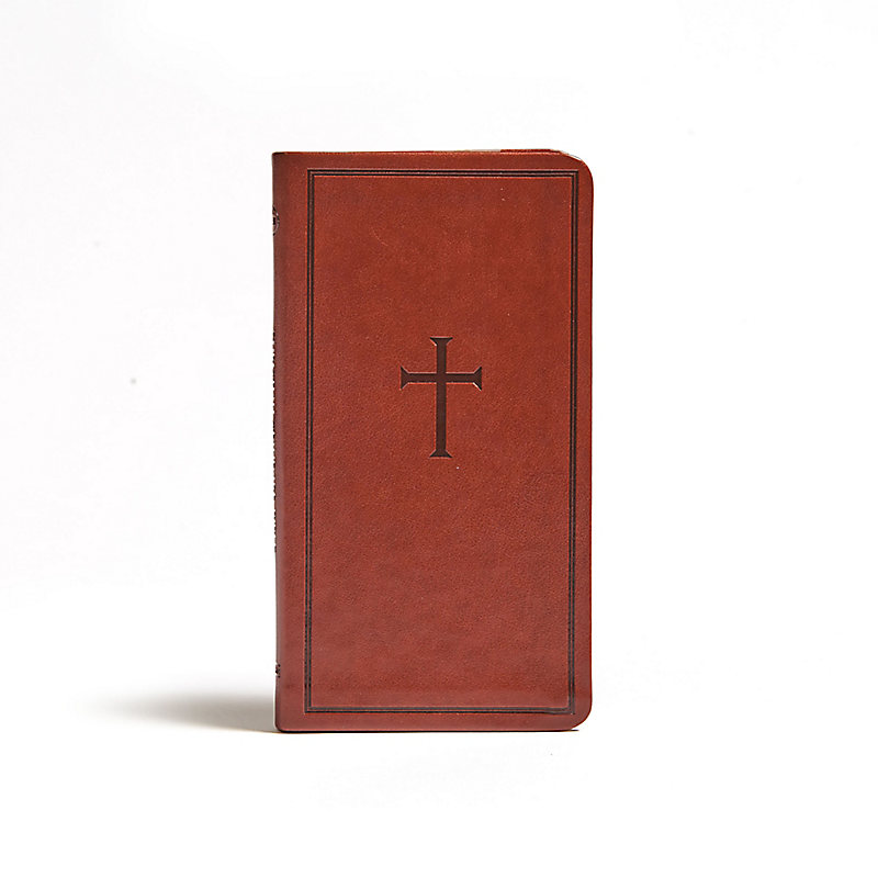 CSB Single-Column Pocket New Testament, Brown LeatherTouch