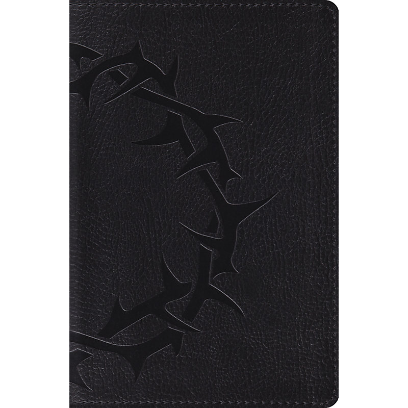 ESV Compact Bible (TruTone, Charcoal, Crown Design)