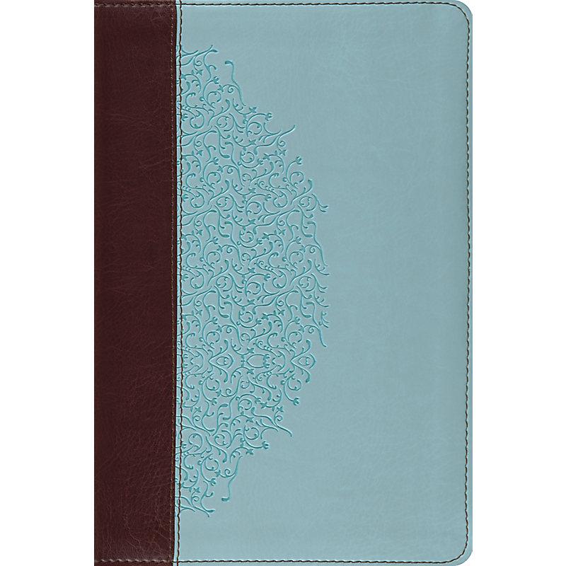 ESV Study Bible, Personal Size (TruTone, Chocolate/Blue, Ivy Design)