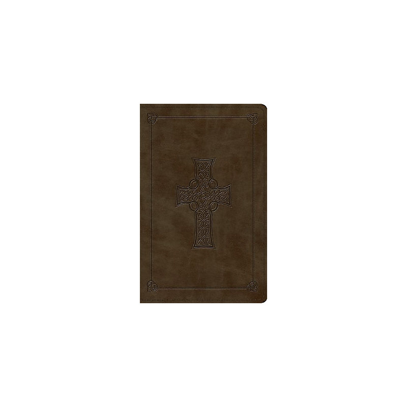Premium Gift Bible - ESV, Cross Design: Olive Imitation Leather