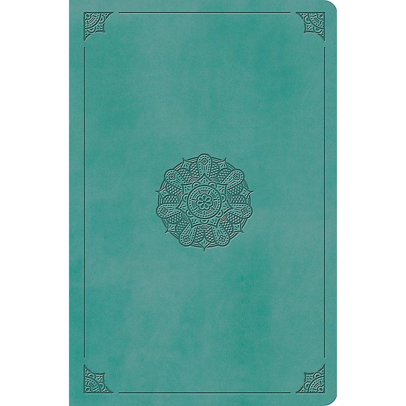 ESV Value Compact Bible (TruTone, Turquoise, Emblem Design)