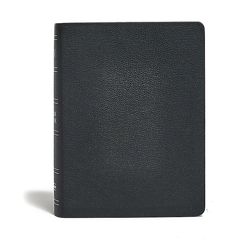 KJV Study Bible, Black Genuine Leather Indexed