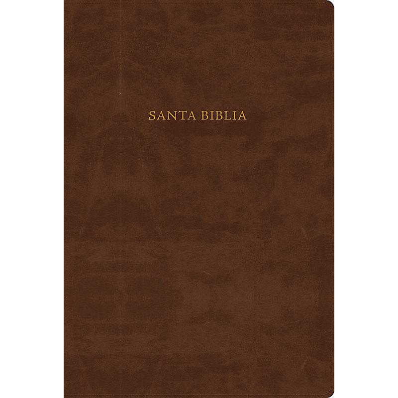 RVR 1960 Biblia de Estudio Scofield, chocolate imitación piel