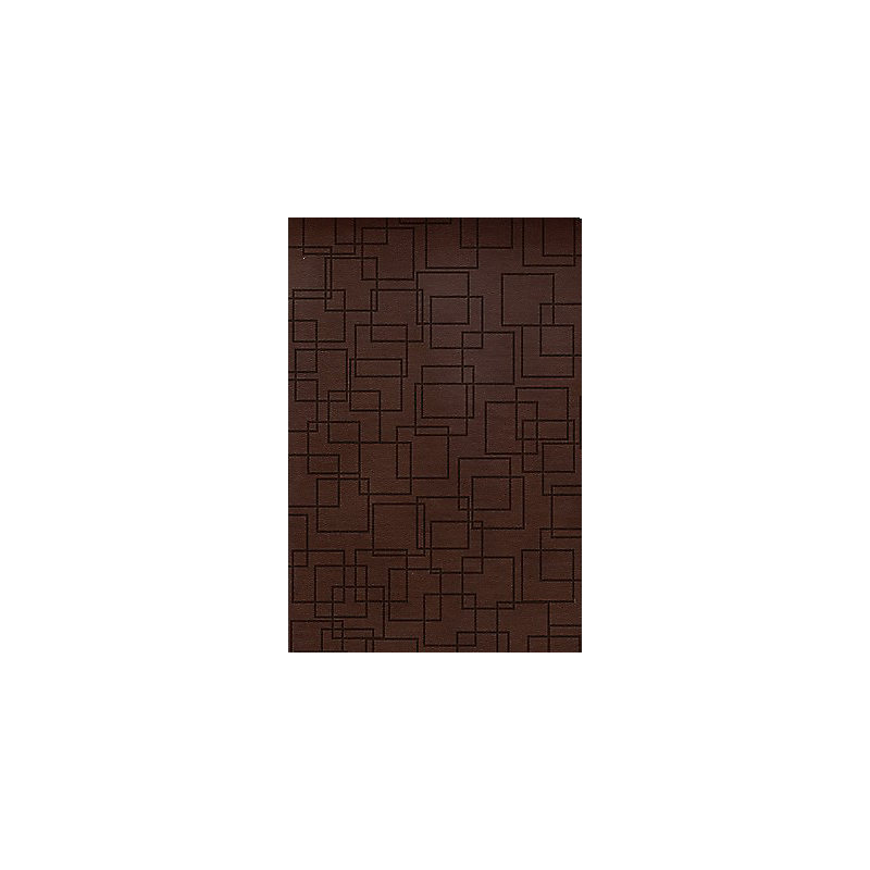 RVR 1960 Biblia Tamaño Personal, geométrico café símil piel