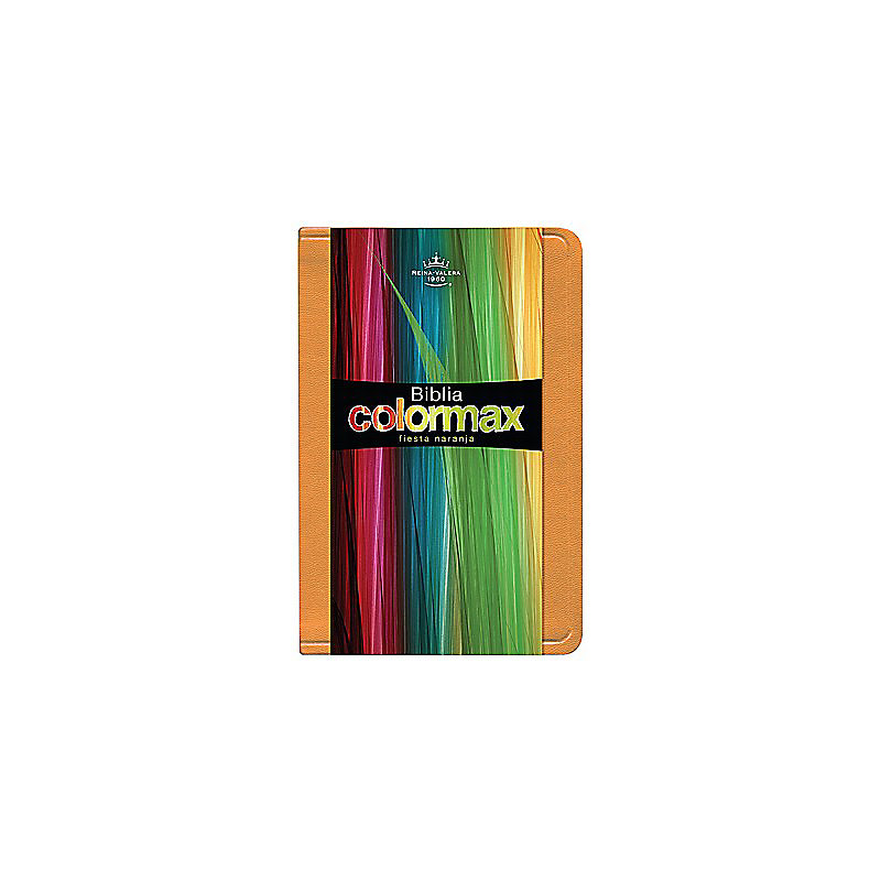 RVR 1960 Biblia Colormax, fiesta naranja imitación piel