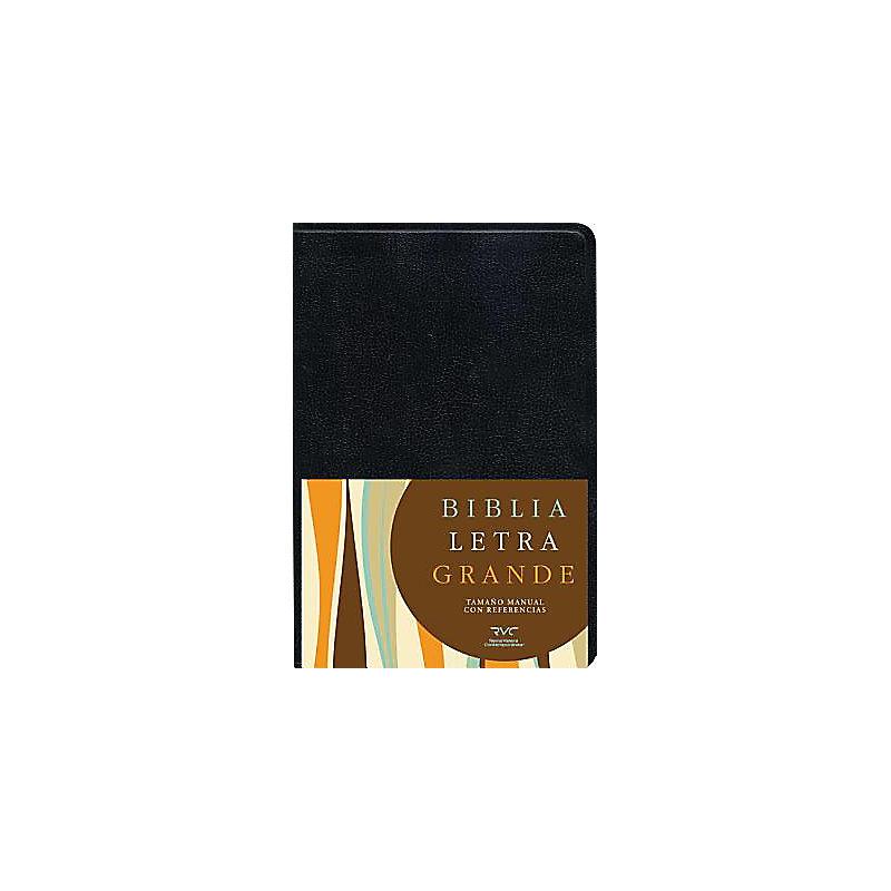 RVC Biblia Letra Grande Tamaño Manual, negro imitación piel