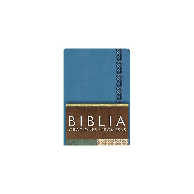 RVC Biblia Oraciones y Promesas - Azul Cobalto símil piel