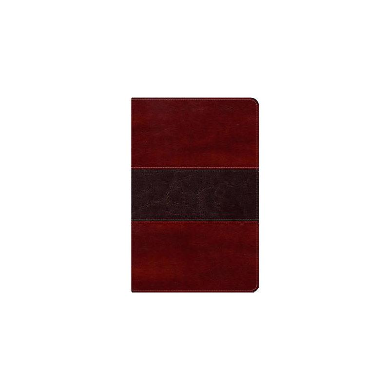 RVR 1960 Biblia del Pescador, caoba símil piel de lujo