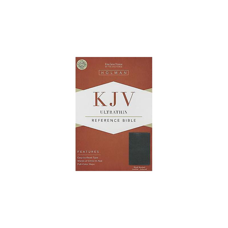 KJV Ultrathin Reference Bible, Black Bonded Leather Indexed