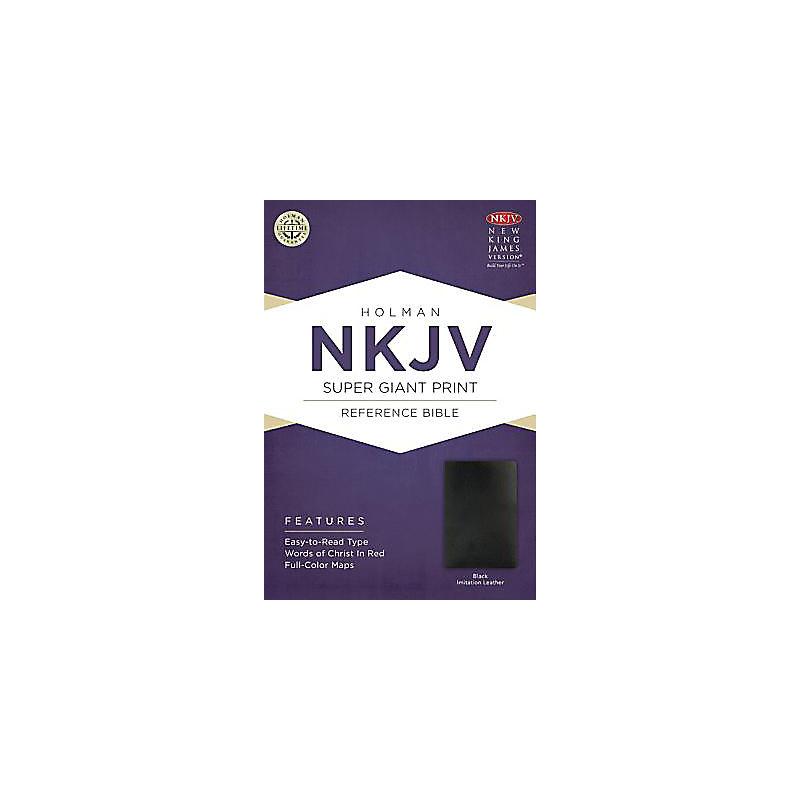 NKJV Super Giant Print Reference Bible, Black Imitation Leather