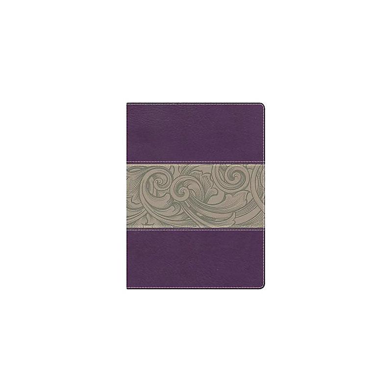 Holman Study Bible: NKJV Edition, Eggplant/Tan LeatherTouch