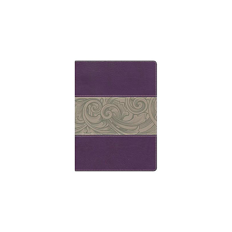 Holman Study Bible: NKJV Edition, Eggplant/Tan LeatherTouch Indexed