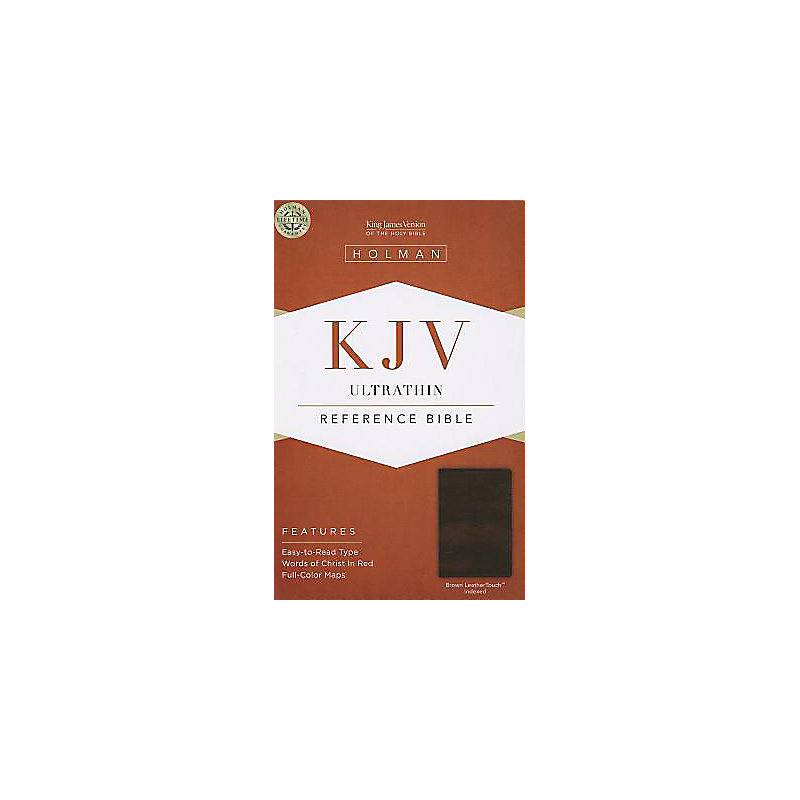 KJV Ultrathin Reference Bible, Brown LeatherTouch Indexed