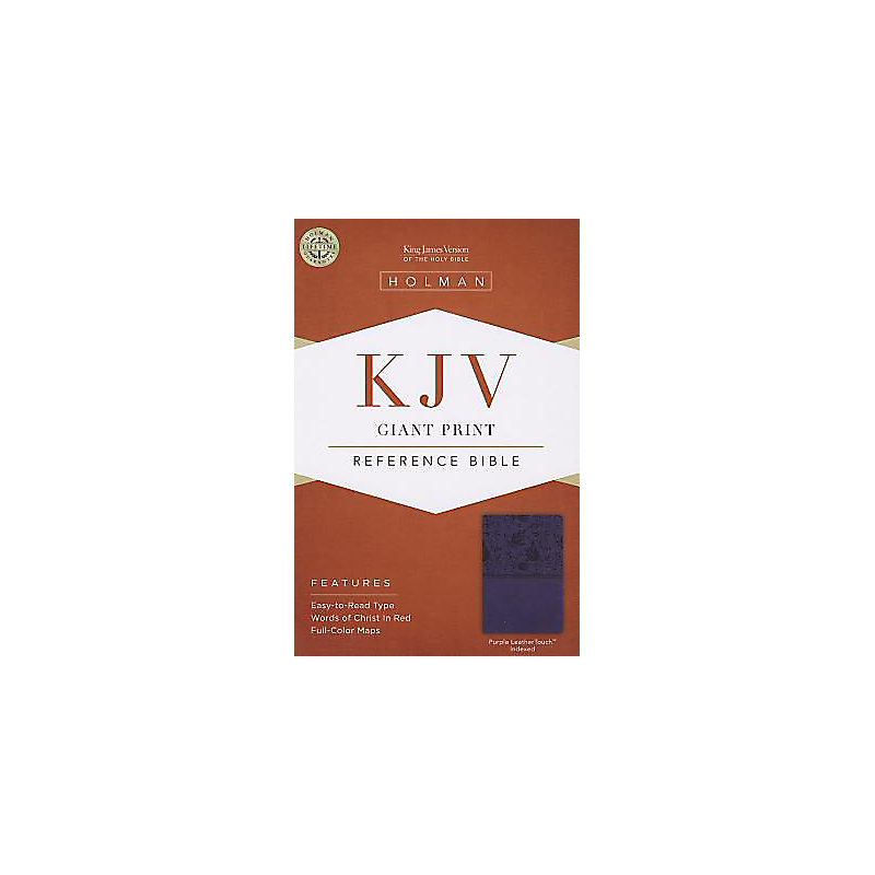 KJV Giant Print Reference Bible, Purple LeatherTouch Indexed