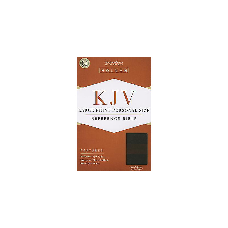 KJV Large Print Personal Size Reference Bible, Saddle Brown LeatherTouch