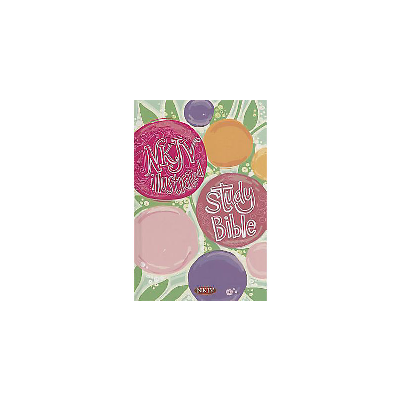 NKJV Illustrated Study Bible for Kids, Flower Hardcover