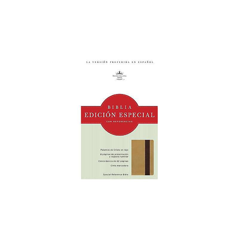 RVR 1960 Edición Especial con Referencias, oro/marrón profundo símil piel