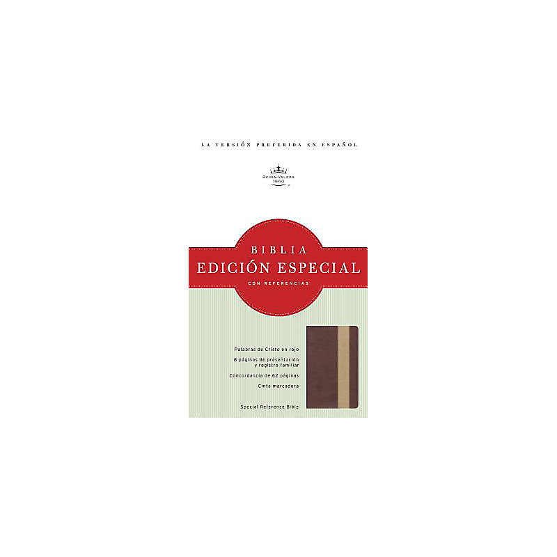 RVR 1960 Edición Especial con Referencias, bronce/tostado símil piel