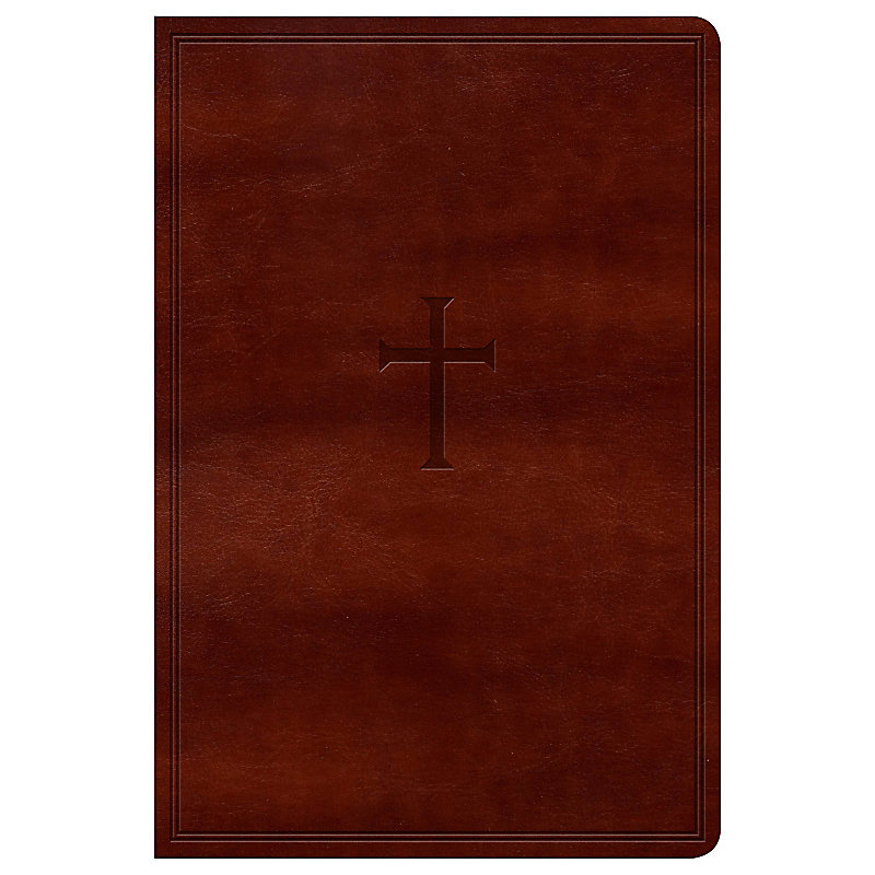 NKJV Large Print Personal Size Reference Bible, Brown LeatherTouch
