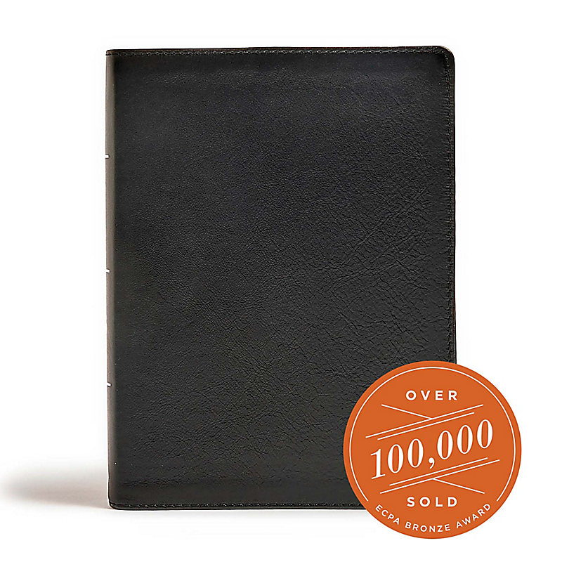 CSB Tony Evans Study Bible, Black Genuine Leather, Indexed