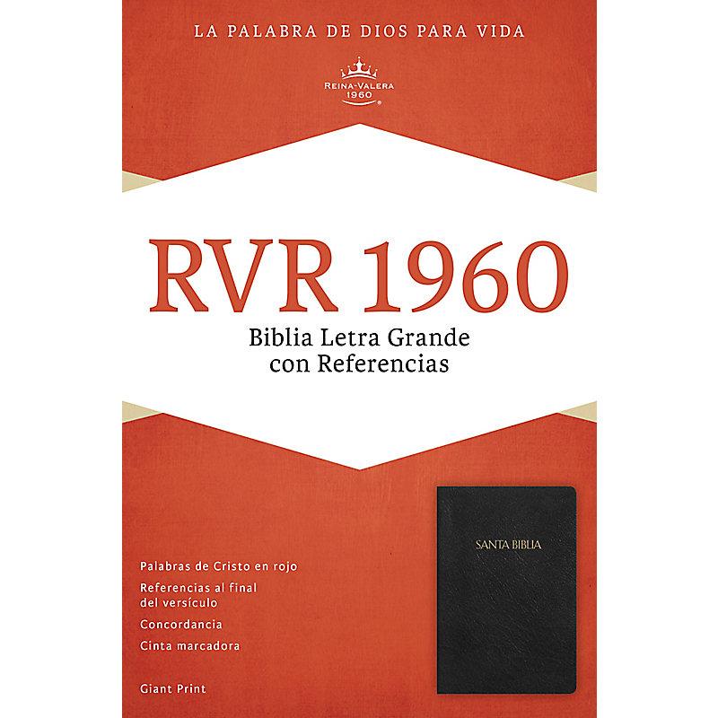 RVR 1960 Biblia Letra Gigante con Referencias, negro imitación piel