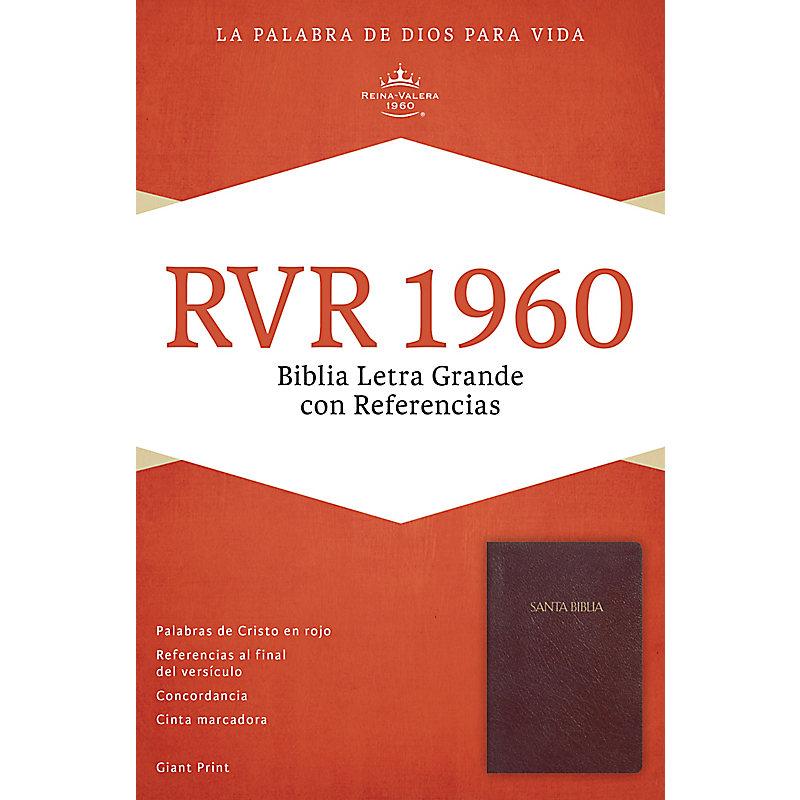 RVR 1960 Biblia Letra Gigante con Referencias, borgoña imitación piel