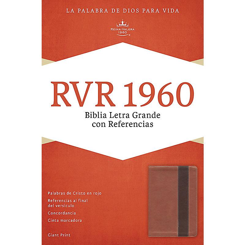 RVR 1960 Biblia Letra Gigante con Referencias, cobre/marrón profundo símil piel