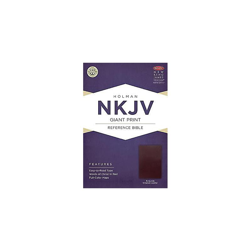 NKJV Giant Print Reference Bible, Burgundy Imitation Leather