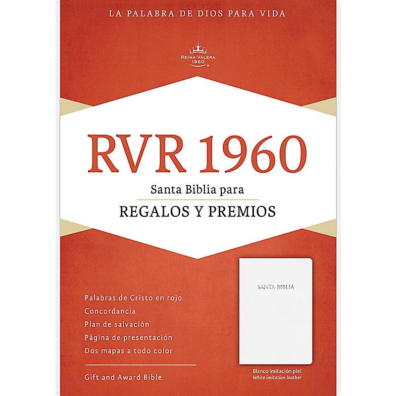 RVR 1960 Biblia para Regalos y Premios, blanco imitación piel