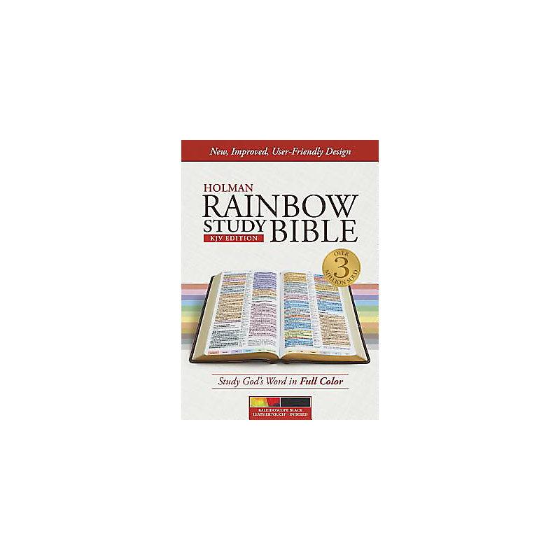 KJV Rainbow Study Bible, Kaleidoscope Black LeatherTouch, Indexed