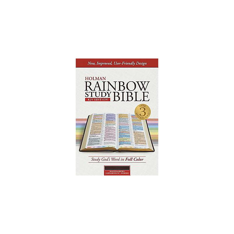 KJV Rainbow Study Bible, Mantova Brown LeatherTouch, Indexed