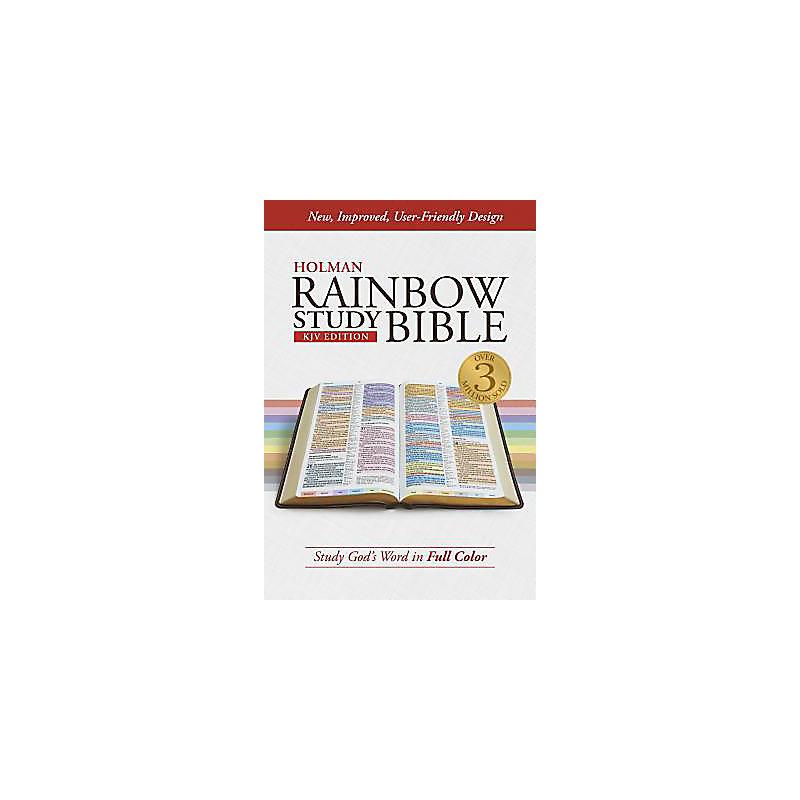 KJV Rainbow Study Bible, Jacketed Hardcover, Indexed