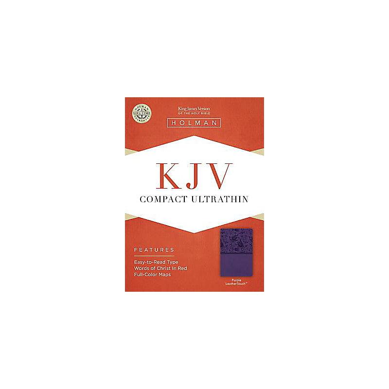 KJV Compact Ultrathin Bible, Purple LeatherTouch