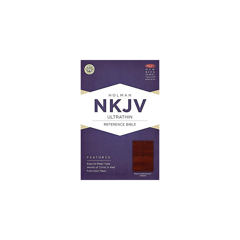 NKJV Ultrathin Reference Bible, Brown LeatherTouch Indexed