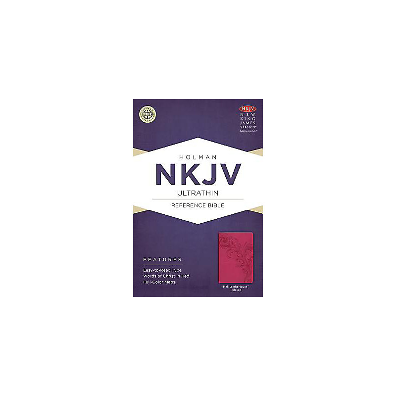 NKJV Ultrathin Reference Bible, Pink LeatherTouch Indexed