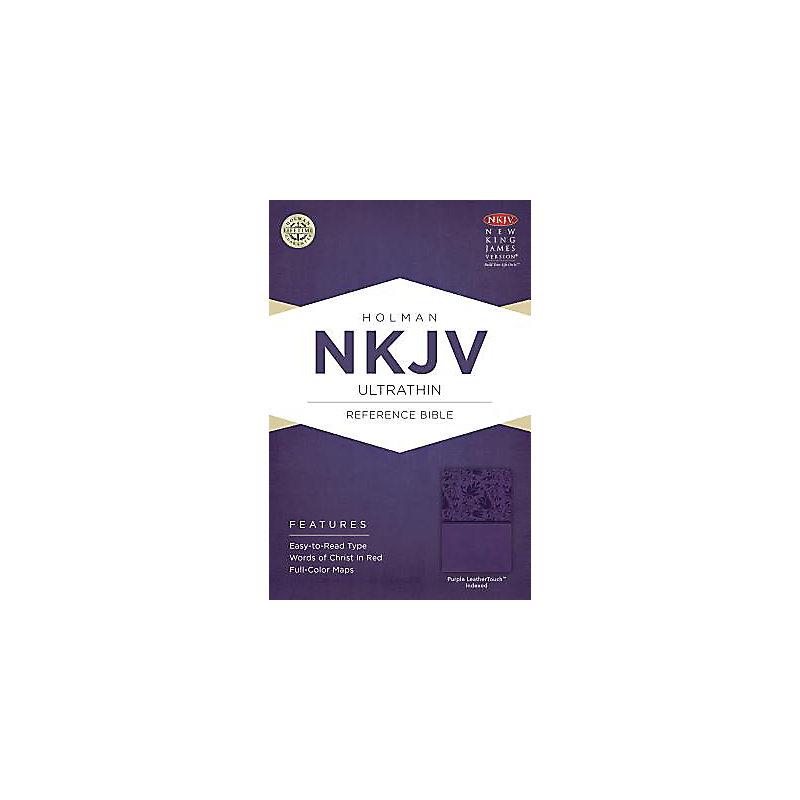 NKJV Ultrathin Reference Bible, Purple LeatherTouch