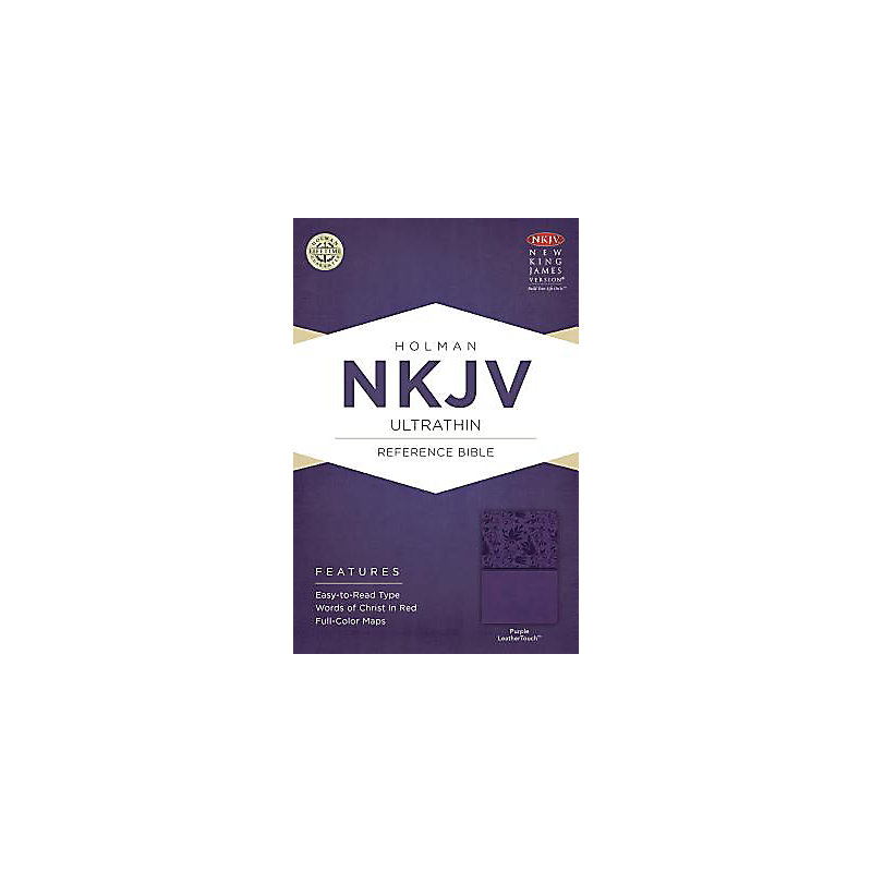 NKJV Ultrathin Reference Bible, Purple LeatherTouch Indexed