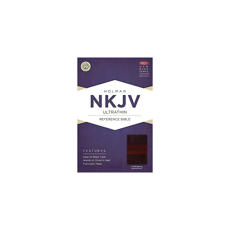 NKJV Ultrathin Reference Bible, Saddle Brown LeatherTouch