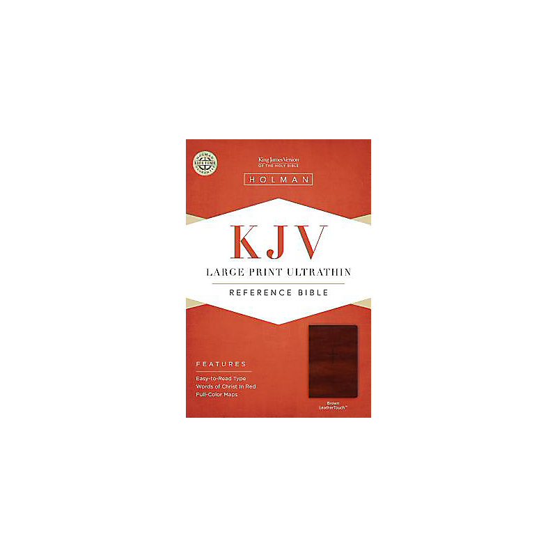 KJV Large Print Ultrathin Reference Bible, Brown LeatherTouch