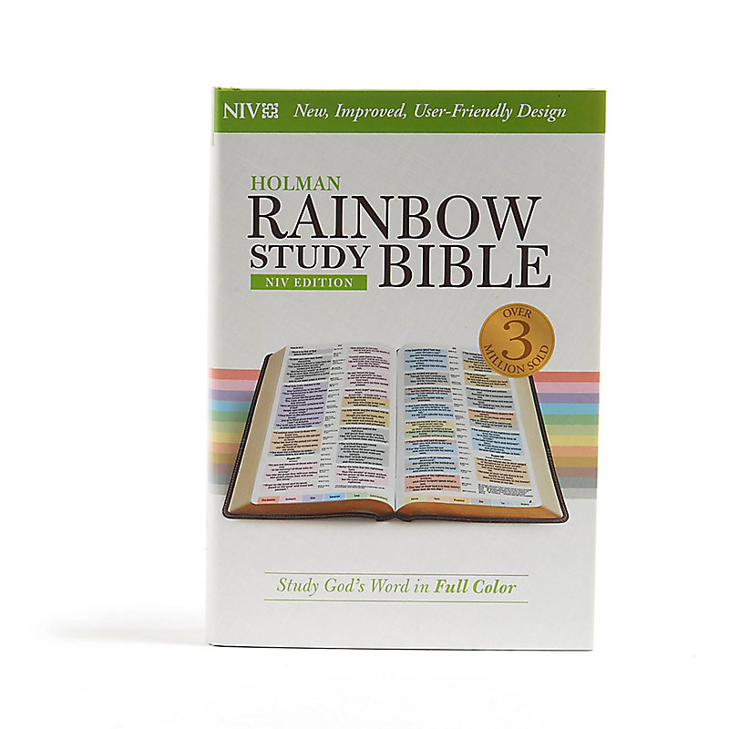 NIV Rainbow Study Bible, Jacketed Hardcover Indexed