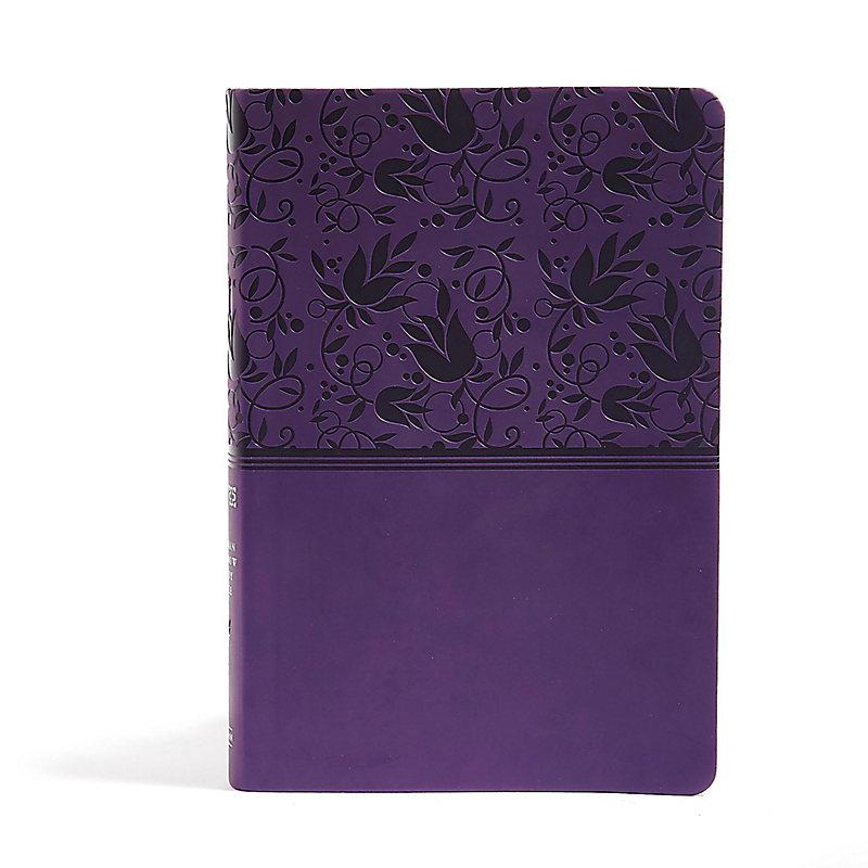 NIV Rainbow Study Bible, Purple LeatherTouch Indexed