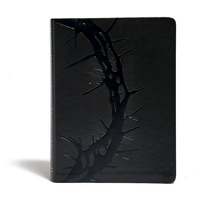 KJV Study Bible, Charcoal LeatherTouch