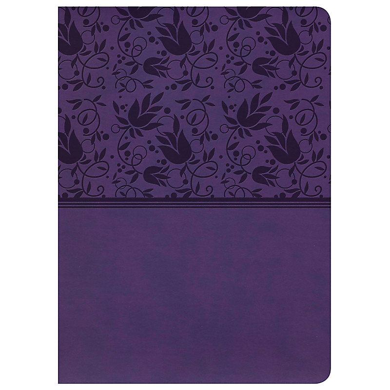 Holman Study Bible: NKJV Edition, Purple LeatherTouch