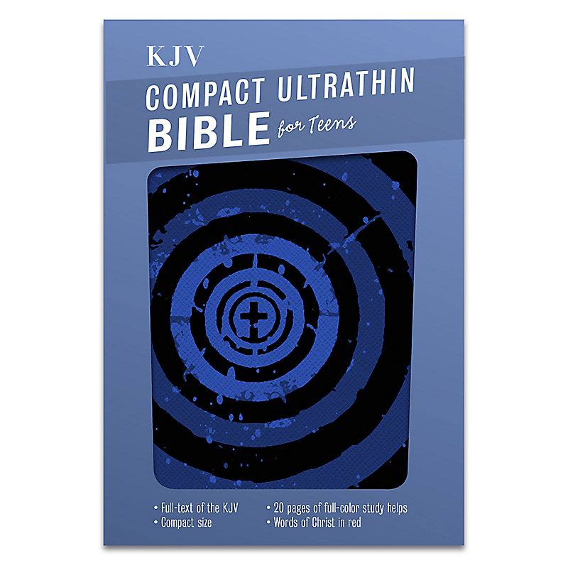 KJV Compact Ultrathin Bible for Teens, Blue Vortex LeatherTouch