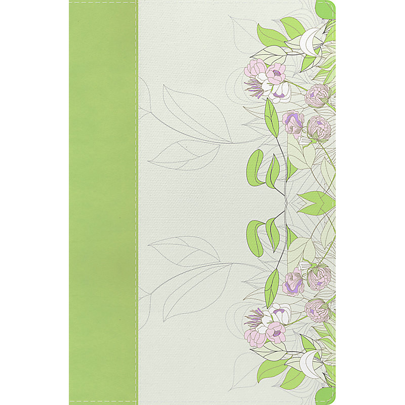 The Study Bible for Women: NKJV Edition, Willow Green/Wildflower LeatherTouch Indexed
