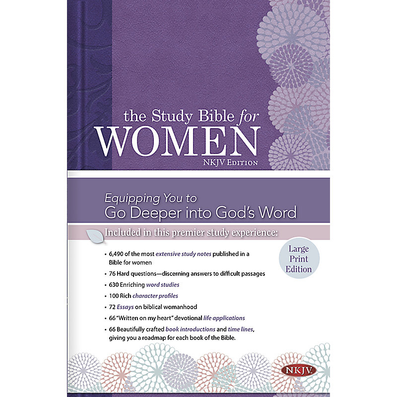 The Study Bible for Women: NKJV Large Print Edition, Hardcover Indexed