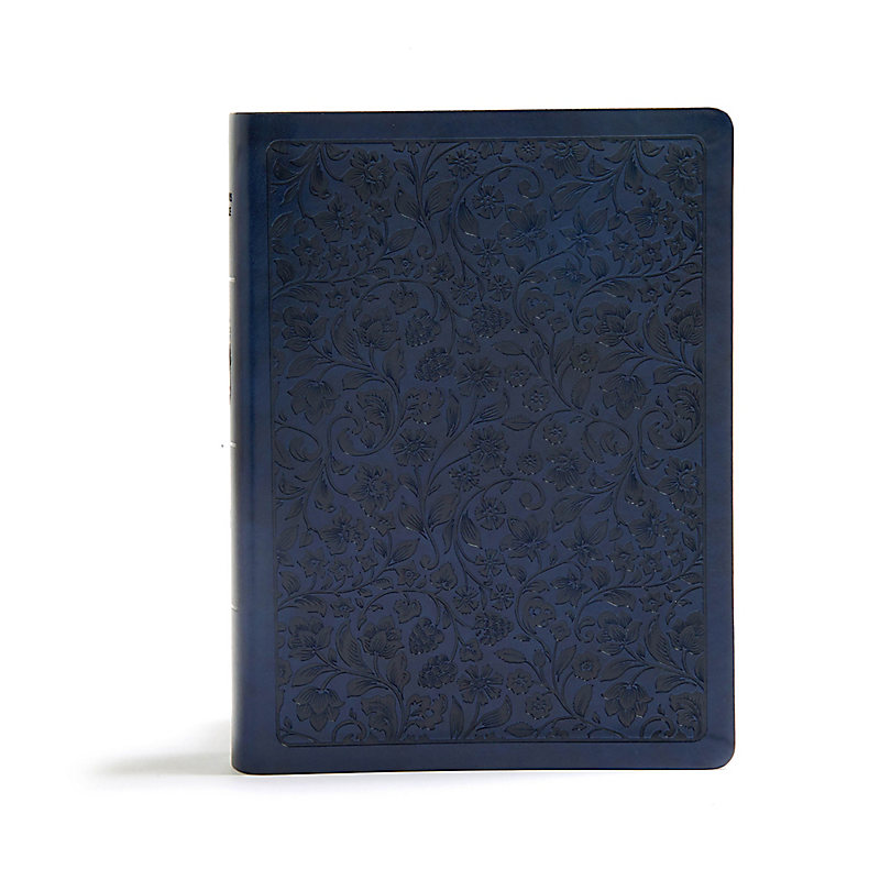 CSB Life Connections Study Bible, Navy LeatherTouch, Indexed