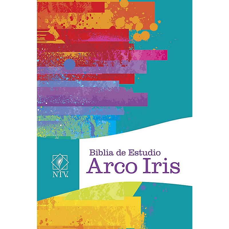 NTV Biblia de Estudio  Arco Iris, multicolor tapa dura con índice